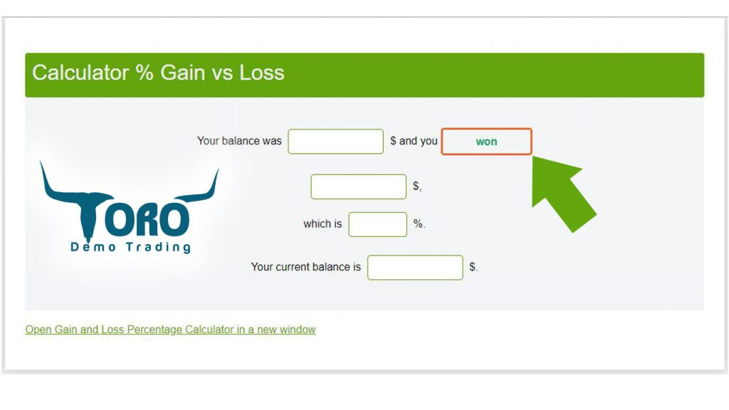 gain-loss percent calculator for etoro