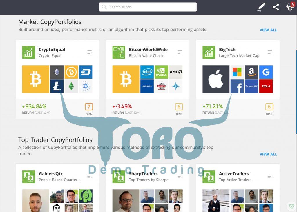 Trading plan CopyTrading etoro