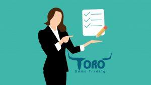 toro demo personal trading checklist